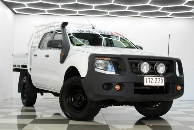 Used Ford Ranger PX XL 3.2 (4x4) Burleigh Heads, 2012 Ford Ranger PX XL 3.2 (4x4) White 6 Speed Manual Dual Cab Chassis