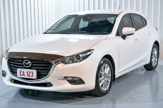 Used Mazda 3 BN5478 Maxx SKYACTIV-Drive Hendra, 2017 Mazda 3 BN5478 Maxx SKYACTIV-Drive White 6 Speed Sports Automatic Hatchback