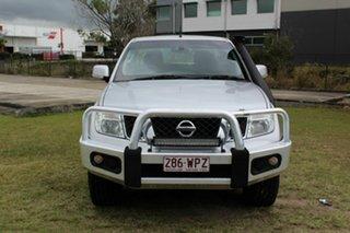 2013 Nissan Navara D40 S6 MY12 ST Silver 6 Speed Manual Utility.
