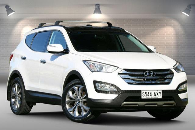 Used Hyundai Santa Fe DM MY13 Highlander Nailsworth, 2013 Hyundai Santa Fe DM MY13 Highlander White 6 Speed Sports Automatic Wagon
