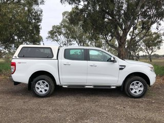 2013 Ford Ranger PX XLT Double Cab 4x2 Hi-Rider White 6 Speed Sports Automatic Utility.