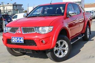 2014 Mitsubishi Triton MN MY15 GLX-R Double Cab Red 5 Speed Manual Utility.