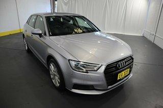 2017 Audi A3 8V MY17 Sportback S Tronic Silver 7 Speed Sports Automatic Dual Clutch Hatchback