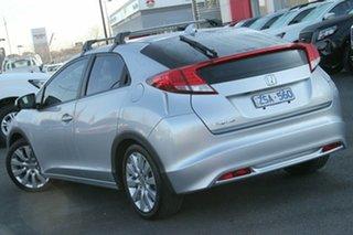 2013 Honda Civic 9th Gen MY13 DTI-S Silver, Chrome 6 Speed Manual Hatchback.