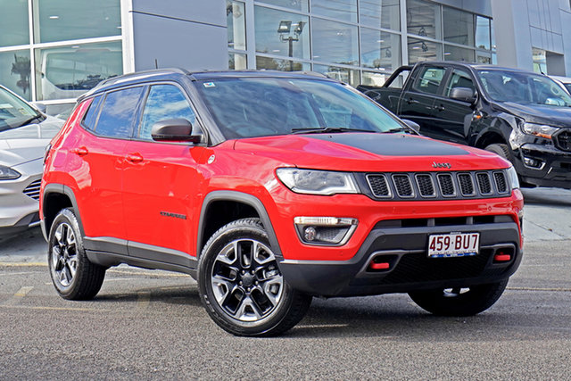 Used Jeep Compass M6 MY18 Trailhawk Springwood, 2018 Jeep Compass M6 MY18 Trailhawk Red 9 Speed Automatic Wagon
