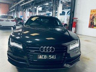 2014 Audi A7 4G MY14 Bi-Turbo Sportback Tiptronic Quattro Black 8 Speed Sports Automatic Hatchback