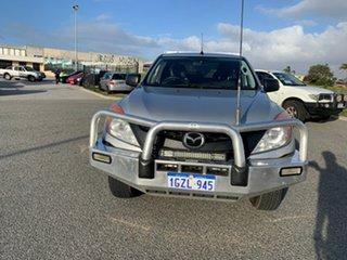 2012 Mazda BT-50 XT Hi-Rider (4x2) Silver 6 Speed Manual Cab Chassis.