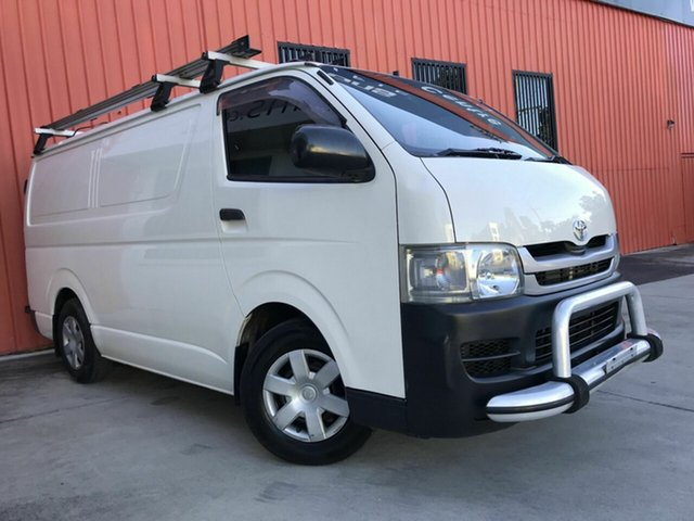 Used Toyota HiAce TRH201R MY08 LWB Molendinar, 2007 Toyota HiAce TRH201R MY08 LWB White 5 Speed Manual Van