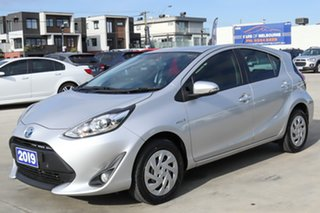 2019 Toyota Prius c NHP10R E-CVT Silver 1 Speed Constant Variable Hatchback Hybrid