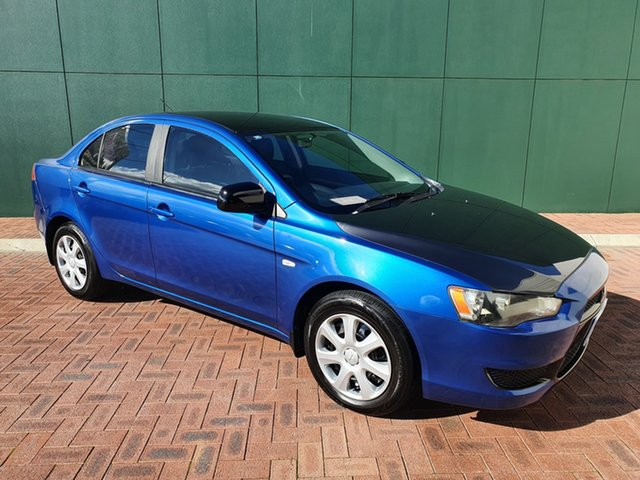 Used Mitsubishi Lancer CJ MY09 ES Victoria Park, 2009 Mitsubishi Lancer CJ MY09 ES Blue 6 Speed CVT Auto Sequential Sedan