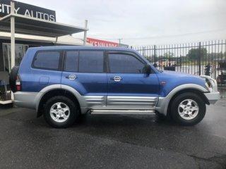 2000 Mitsubishi Pajero NM GLS LWB (4x4) Blue 5 Speed Auto Sports Mode Wagon.