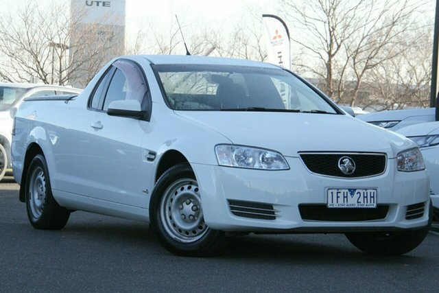 Used Holden Ute VE II MY12 Omega Essendon North, 2012 Holden Ute VE II MY12 Omega White 6 Speed Sports Automatic Utility