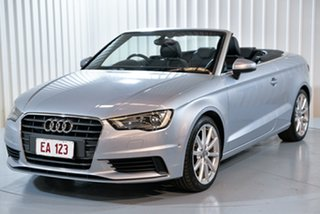 2014 Audi A3 8V MY15 Attraction S Tronic Silver 7 Speed Sports Automatic Dual Clutch Cabriolet.