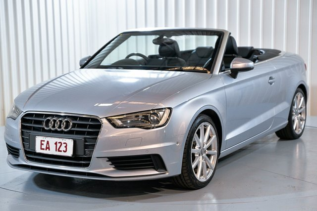 Used Audi A3 8V MY15 Attraction S Tronic Hendra, 2014 Audi A3 8V MY15 Attraction S Tronic Silver 7 Speed Sports Automatic Dual Clutch Cabriolet
