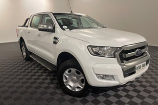 2018 Ford Ranger PX MkII 2018.00MY XLT Double Cab White 6 speed Automatic Utility.