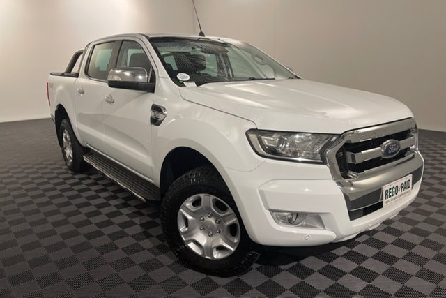 Used Ford Ranger PX MkII 2018.00MY XLT Double Cab Acacia Ridge, 2018 Ford Ranger PX MkII 2018.00MY XLT Double Cab White 6 speed Automatic Utility