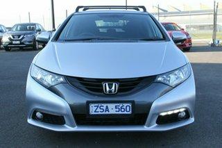 2013 Honda Civic 9th Gen MY13 DTI-S Silver, Chrome 6 Speed Manual Hatchback