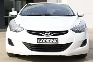 2012 Hyundai Elantra MD2 Active White 6 Speed Manual Sedan.
