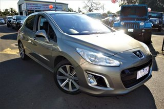 2012 Peugeot 308 T7 MY12 Allure Gold 6 Speed Sports Automatic Hatchback.
