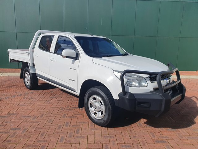 Used Holden Colorado RG MY14 LX (4x2) Victoria Park, 2014 Holden Colorado RG MY14 LX (4x2) White 6 Speed Automatic Crew Cab Chassis