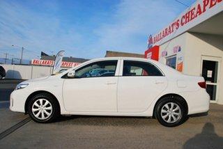 2010 Toyota Corolla ZRE152R MY11 Ascent White 4 Speed Automatic Sedan.