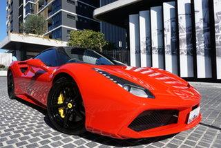 2018 Ferrari 488 GTB F142 No Badge Rosso Corsa 7 Speed Sports Automatic Dual Clutch Coupe.