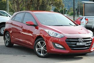 2016 Hyundai i30 GD4 Series II MY17 Active X Red 6 Speed Sports Automatic Hatchback.