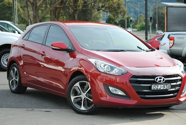 Used Hyundai i30 GD4 Series II MY17 Active X West Gosford, 2016 Hyundai i30 GD4 Series II MY17 Active X Red 6 Speed Sports Automatic Hatchback
