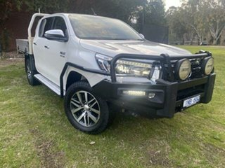 2018 Toyota Hilux GUN126R MY19 SR5 (4x4) Crystal Pearl 6 Speed Manual Double Cab Pick Up.