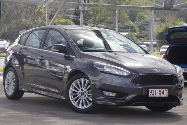 Used Ford Focus LZ Sport Bundamba, 2017 Ford Focus LZ Sport Magnetic 6 Speed Automatic Hatchback