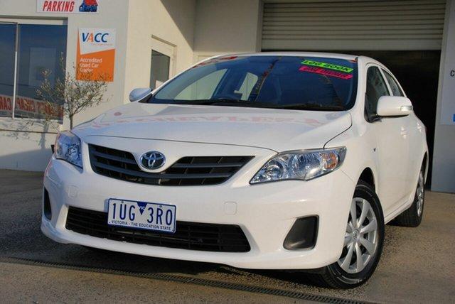 Used Toyota Corolla ZRE152R MY11 Ascent Wendouree, 2010 Toyota Corolla ZRE152R MY11 Ascent White 4 Speed Automatic Sedan