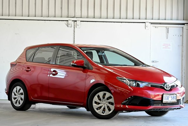 Used Toyota Corolla ZRE182R Ascent S-CVT Laverton North, 2017 Toyota Corolla ZRE182R Ascent S-CVT Wildfire 7 Speed Constant Variable Hatchback