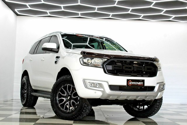 Used Ford Everest UA MY17 Trend Burleigh Heads, 2016 Ford Everest UA MY17 Trend White 6 Speed Automatic SUV