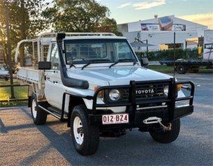 1994 Toyota Landcruiser HZJ75RP (4x4) White 5 Speed Manual Utility.