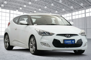 2012 Hyundai Veloster FS2 + Coupe D-CT White 6 Speed Sports Automatic Dual Clutch Hatchback.