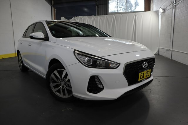 Used Hyundai i30 PD2 MY19 Active Castle Hill, 2019 Hyundai i30 PD2 MY19 Active White 6 Speed Sports Automatic Hatchback