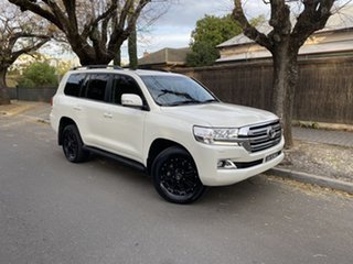 2018 Toyota Landcruiser VDJ200R VX White 6 Speed Sports Automatic Wagon.