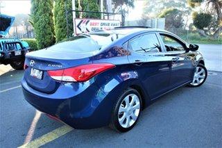 2011 Hyundai Elantra MD Premium Blue 6 Speed Sports Automatic Sedan.