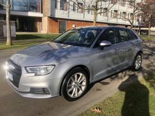 2017 Audi A3 8V MY18 Sportback S Tronic Silver 7 Speed Sports Automatic Dual Clutch Hatchback