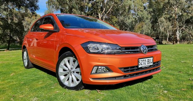 Used Volkswagen Polo AW MY18 Launch Edition DSG Nuriootpa, 2017 Volkswagen Polo AW MY18 Launch Edition DSG Orange 7 Speed Sports Automatic Dual Clutch
