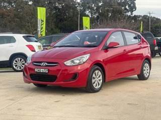 2016 Hyundai Accent Active Red Constant Variable Hatchback.