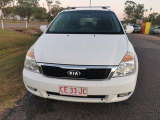 2013 Kia Grand Carnival VQ MY14 SLi White 6 Speed Sports Automatic Wagon.