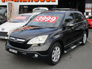 2009 Honda CR-V MY07 (4x4) Black 6 Speed Manual Wagon.