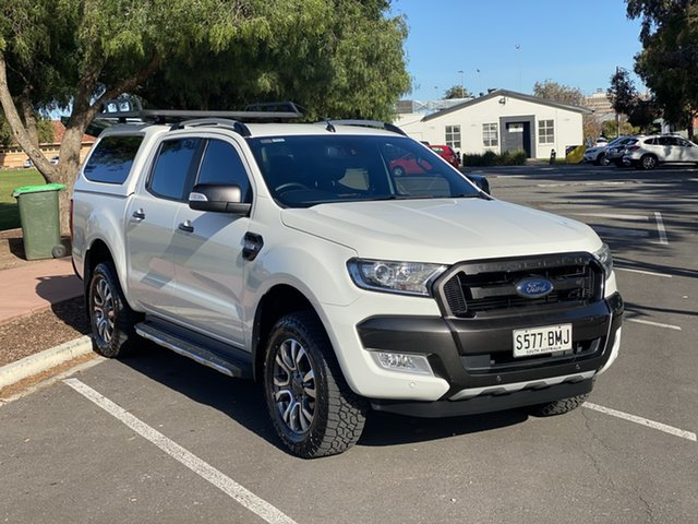Used Ford Ranger PX MkII Wildtrak Double Cab Nailsworth, 2016 Ford Ranger PX MkII Wildtrak Double Cab White 6 Speed Sports Automatic Utility