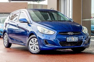 2014 Hyundai Accent RB2 MY15 Active Blue 4 Speed Sports Automatic Hatchback.