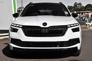 2021 Skoda Kamiq NW MY21 110TSI DSG FWD Monte Carlo White 7 Speed Sports Automatic Dual Clutch Wagon.