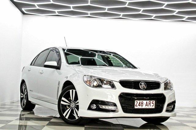 Used Holden Commodore VF MY15 SV6 Storm Burleigh Heads, 2015 Holden Commodore VF MY15 SV6 Storm White 6 Speed Automatic Sedan
