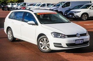 2015 Volkswagen Golf VII MY15 90TSI DSG White 7 Speed Sports Automatic Dual Clutch Wagon.