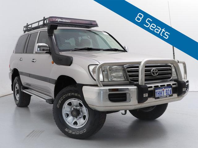 Used Toyota Landcruiser UZJ100R GXL (4x4), 2004 Toyota Landcruiser UZJ100R GXL (4x4) Silver, Chrome 5 Speed Manual Wagon
