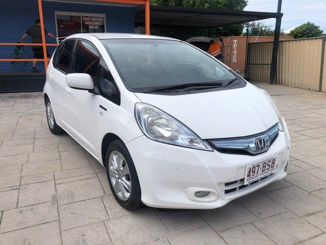 Used Honda Jazz Hybrid Mundingburra, 2014 Honda Jazz Hybrid White 1 Speed Constant Variable Hatchback Hybrid